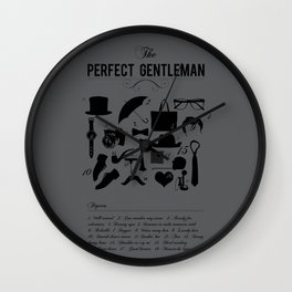 The Perfect Gent Wall Clock