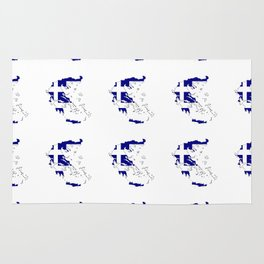 Flag of greece 2 -Greek, Ελλάδα,hellas,hellenic, athens,sparte,aristotle. Rug