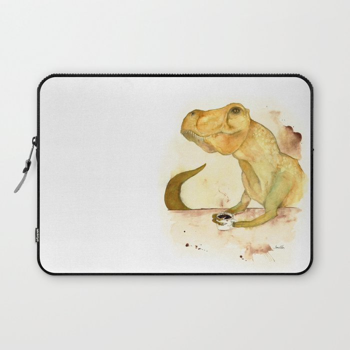 T-Rex Morning Coffee Laptop Sleeve