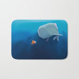 The little sperm whale and the fish Bath Mat
