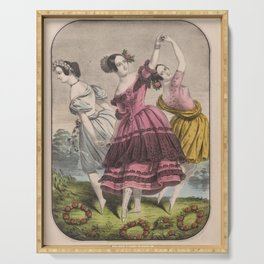 Currier Nathaniel  The three graces Serving Tray