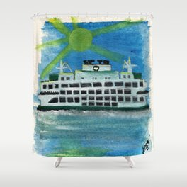 Sailing on Heavenly Seas Shower Curtain