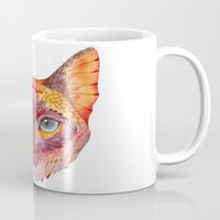 cat coquillette Mugs featuring cat by Ola Liola