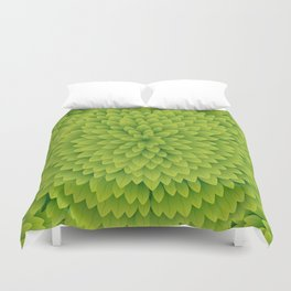 Seamless Green Leaves Pattern Duvet Cover