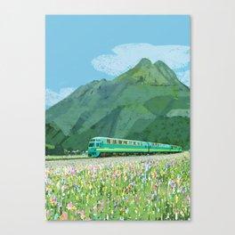 Spring train Canvas Print