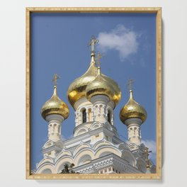 Onion Domes Alexander Nevsky Cathedral Serving Tray