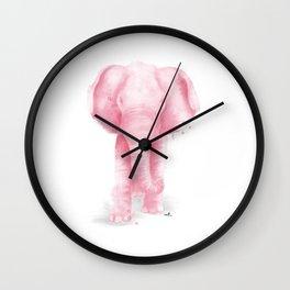 Pink Elephant Wall Clock