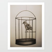 cage Art Prints featuring Cage by Mikhaela Davis