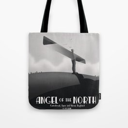 Angel of the North,Gateshead, Tyne and Wear, England black and white. Tote Bag