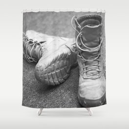 A Mile in My Boots Shower Curtain