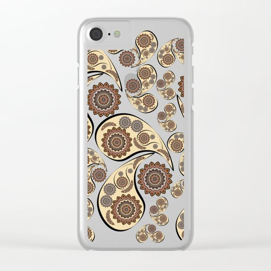Paisley Pattern Clear iPhone Case
