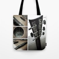 guitar Tote Bags featuring Guitar by TJAguilar Photos