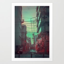 Infrapink 04 Art Print