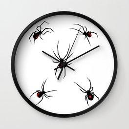 Black Widow Spiders Wall Clock
