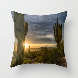 The Beauty of the Sonoran Desert Throw Pillow