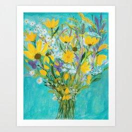 Late Summer wildflowers Art Print