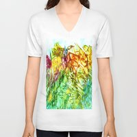 kaleidoscope V-neck T-shirts featuring Kaleidoscope by Rosie Brown