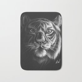 """White Tiger"" Drawing Bath Mat"