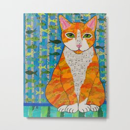 Marmalade Cat Metal Print