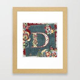 Blue Jeans Monogramed D Framed Art Print