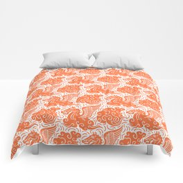 Pegasus Pattern Orange Comforters