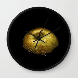 Golden Apple Wet Wall Clock