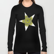 Yellow Superstar Mandala Star Long Sleeve T-shirt