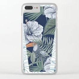 tropical run down Clear iPhone Case