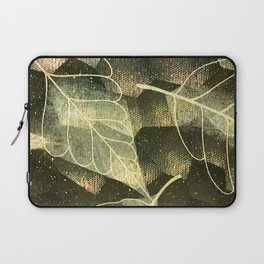 Transparent Abstract Leaves in Magical Green Hues Laptop Sleeve