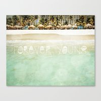 forever young Canvas Prints featuring Forever Young by Jenndalyn