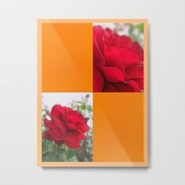 Red Rose Edges Blank Q8F0 Metal Print