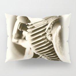 Motorbike engine close-up view Pillow Sham