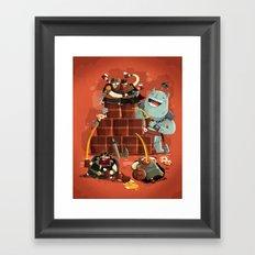 :::Drunk Vikings::: Framed Art Print