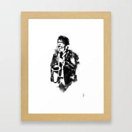 Jazz saxophone Framed Art Print