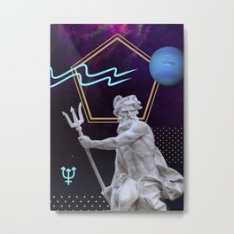 Ancient Gods and Planets: Neptune Metal Print