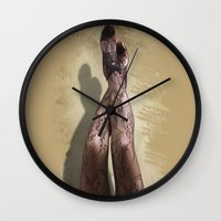 legs Wall Clocks featuring Legs by Svetlana Sewell