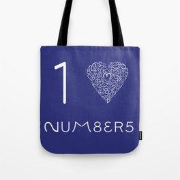 I heart Numbers Tote Bag