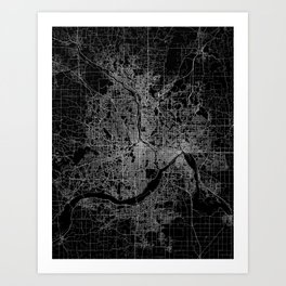 minneapolis map Art Print