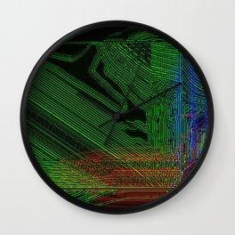 Green Slug Wall Clock