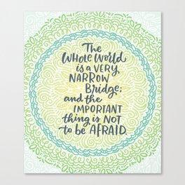 Narrow Bridge Mandala Canvas Print