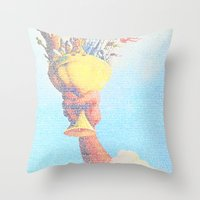 monty python Throw Pillows featuring Monty Python & The Holy Grail. The Script Print! by Robotic Ewe