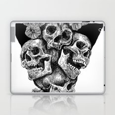 skulls&hibiscus2 Laptop & iPad Skin