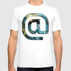 At Sign {@} Series - Silom Typeface SMALL White Mens Fitted Tee