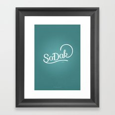 So. Dak. Blue Framed Art Print