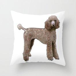 Elegant Poodle Throw Pillow