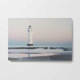New Brighton Lighthouse at sunrise Metal Print