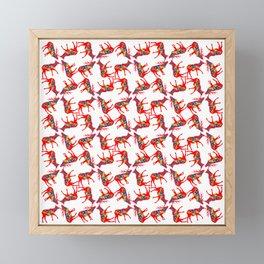 Graphic Dala Elk Pair Multiples Framed Mini Art Print
