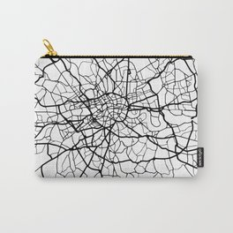LONDON ENGLAND BLACK CITY STREET MAP ART Carry-All Pouch