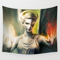 angel Wall Tapestries featuring Angel by Joe Roberts