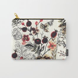 Watercolor autum berries and foliage Carry-All Pouch